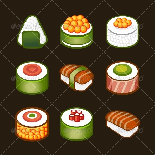 Sushi Set - Japan Cuisine - Food Objects
