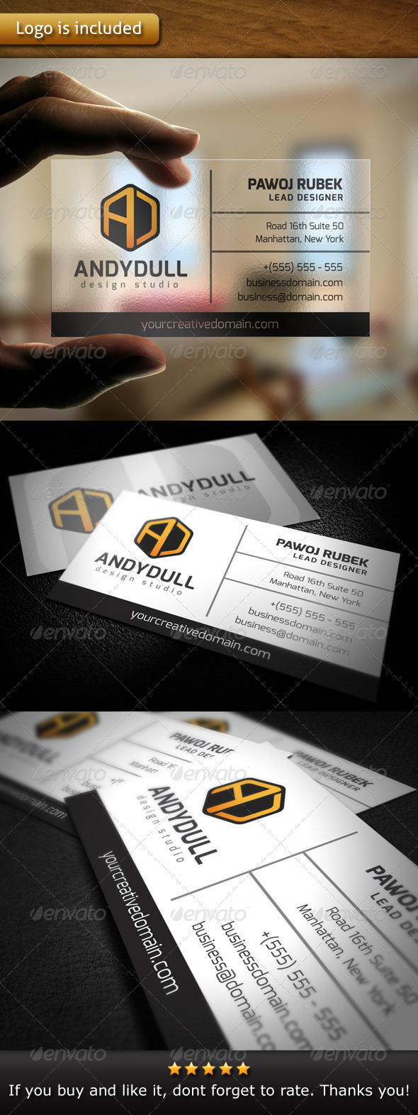 Multipurpose Brand Business Card - Corporate Business Cards