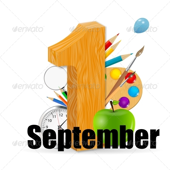 1 September Date Vector Illustration - Miscellaneous Conceptual