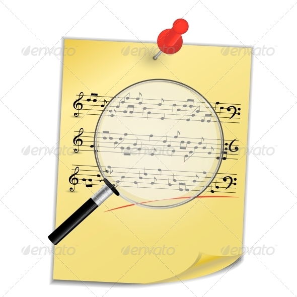 Musical Notes Abstract Background. Vector - Decorative Symbols Decorative
