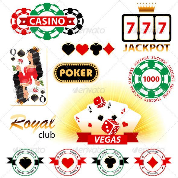 Casino Signs and Emblems - Sports/Activity Conceptual