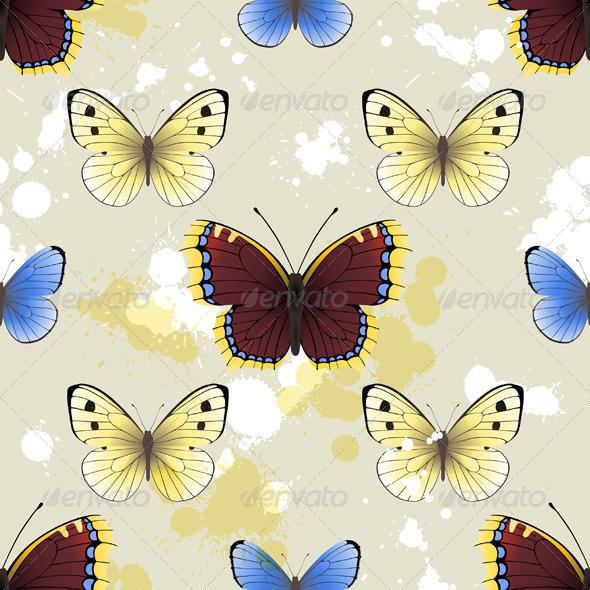 Butterfly Seamless - Patterns Decorative