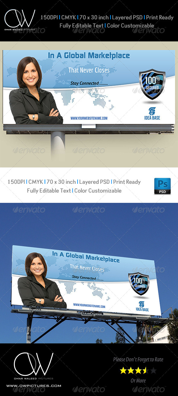 Corporate Business Billboard Template - Signage Print Templates