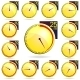 Stopwatch Yellow Timers Set - GraphicRiver Item for Sale