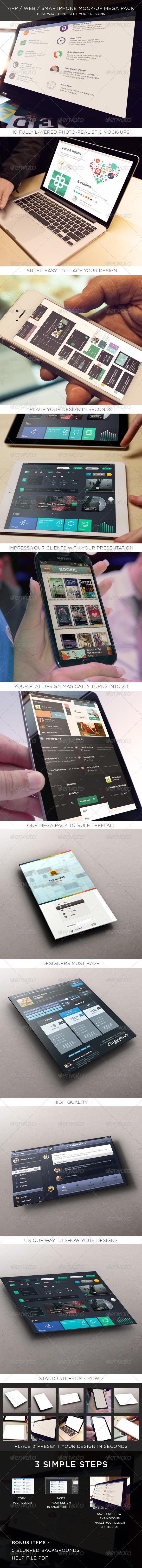 App / Web / Smartphone Mock-Up Mega Pack  - Miscellaneous Apparel