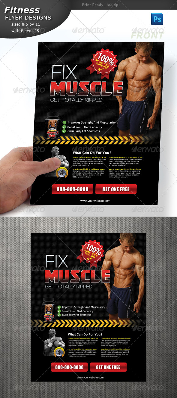 Body Building Flyer  - Commerce Flyers