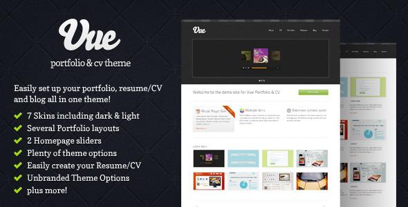 Free Download Vue - Portfolio & CV WordPress Theme Nulled Latest Version