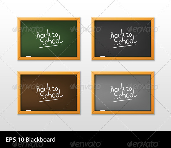 School Blackboard Vector - Objects Vectors