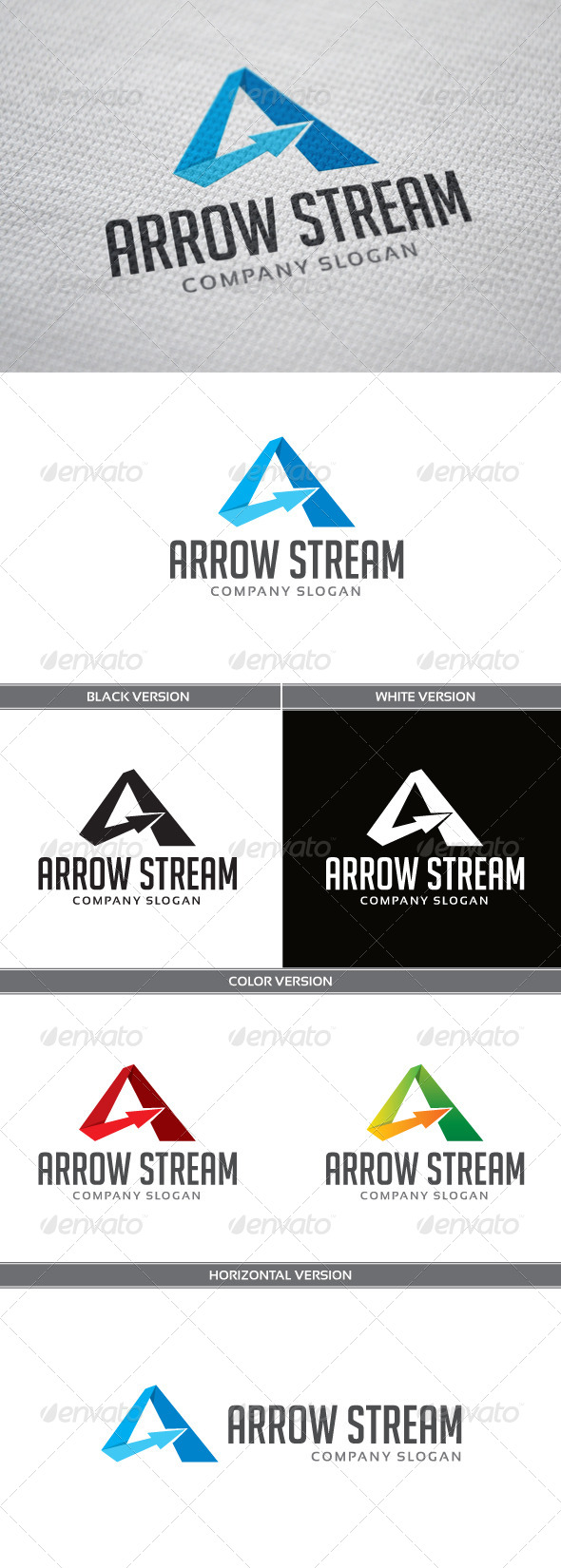 Arrow Stream Logo - Letters Logo Templates