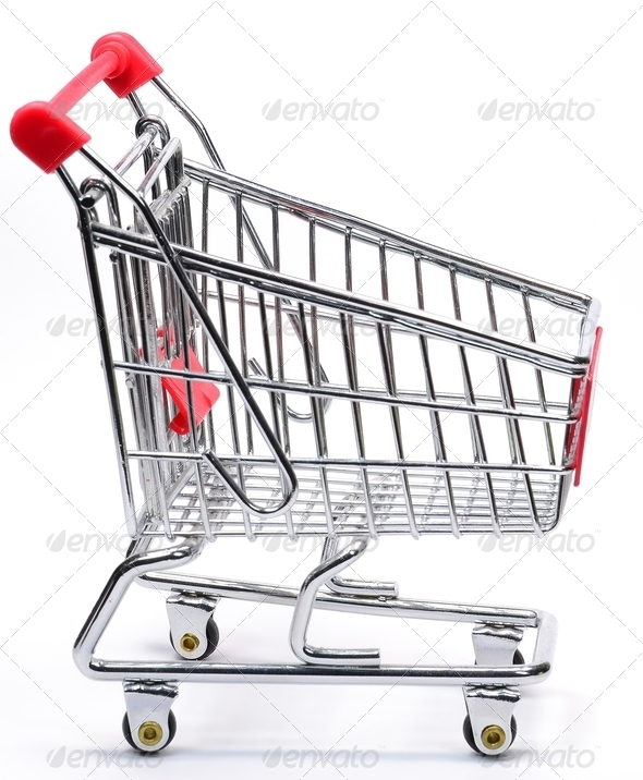 A Shopping Cart Trolley - Stock Photo - Images