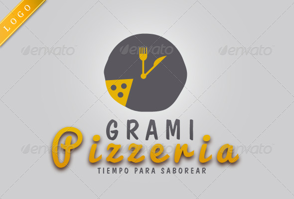 Grami Pizzeria/Restaurant Logo - Food Logo Templates