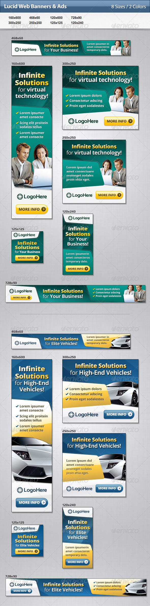 Lucid Web Banners & Ads - Banners & Ads Web Elements