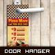 Door Hanger - Pizza More - GraphicRiver Item for Sale