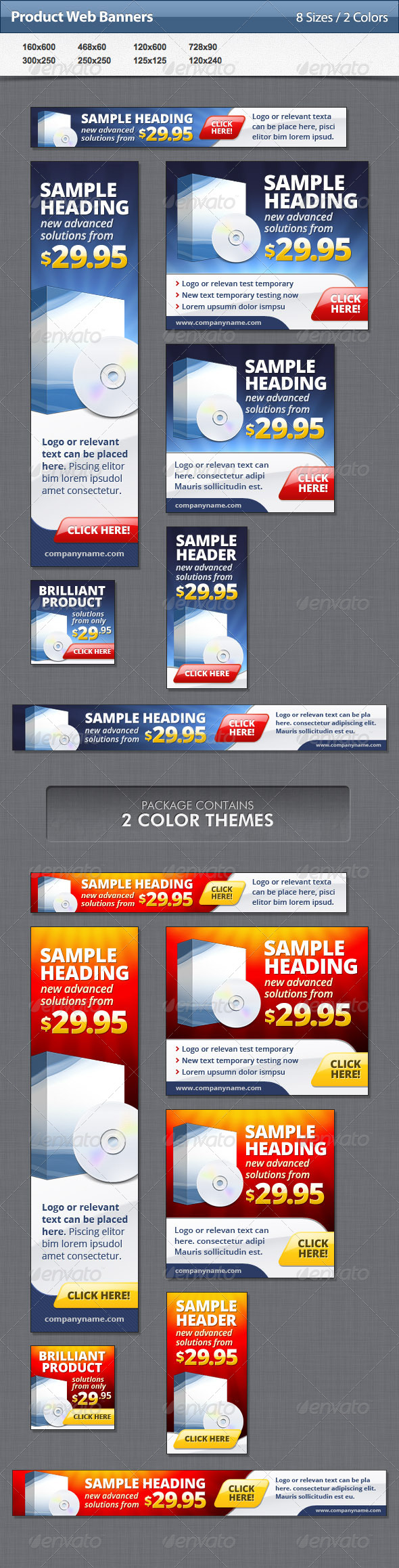 Product Web Banners - Banners & Ads Web Elements