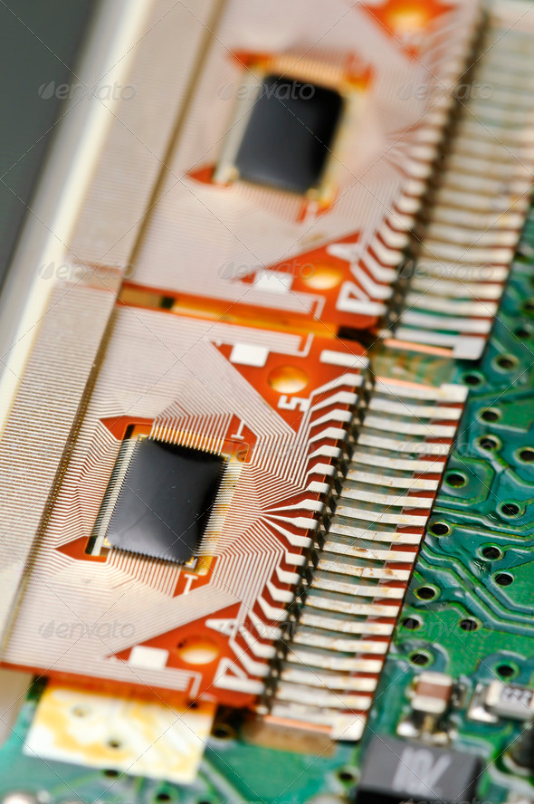 Electronic Board for LCD - Stock Photo - Images