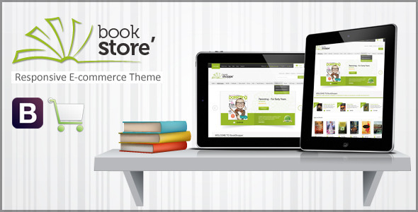 Book Store Responsive Ecommerce HTML5 Theme - Retail Site Templates