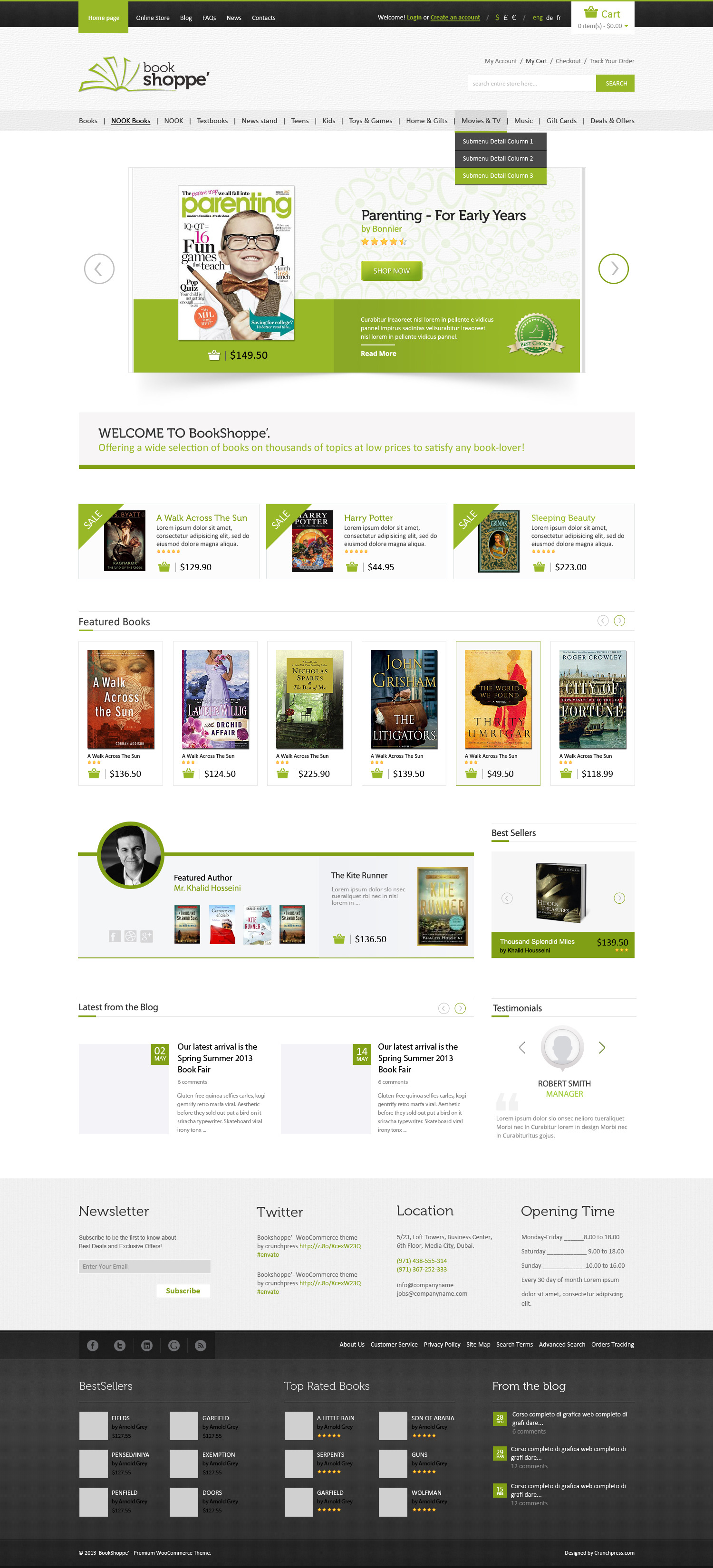 Book store responsive ecommerce html5 theme by crunchpress book store responsive ecommerce html5 theme pronofoot35fo Choice Image