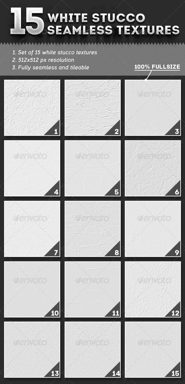15 Seamless White Stucco Textures - Concrete Textures