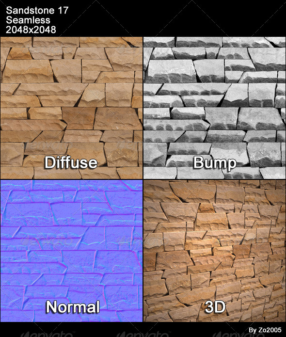 Sandstone Seamless Texture 17 - 3DOcean Item for Sale