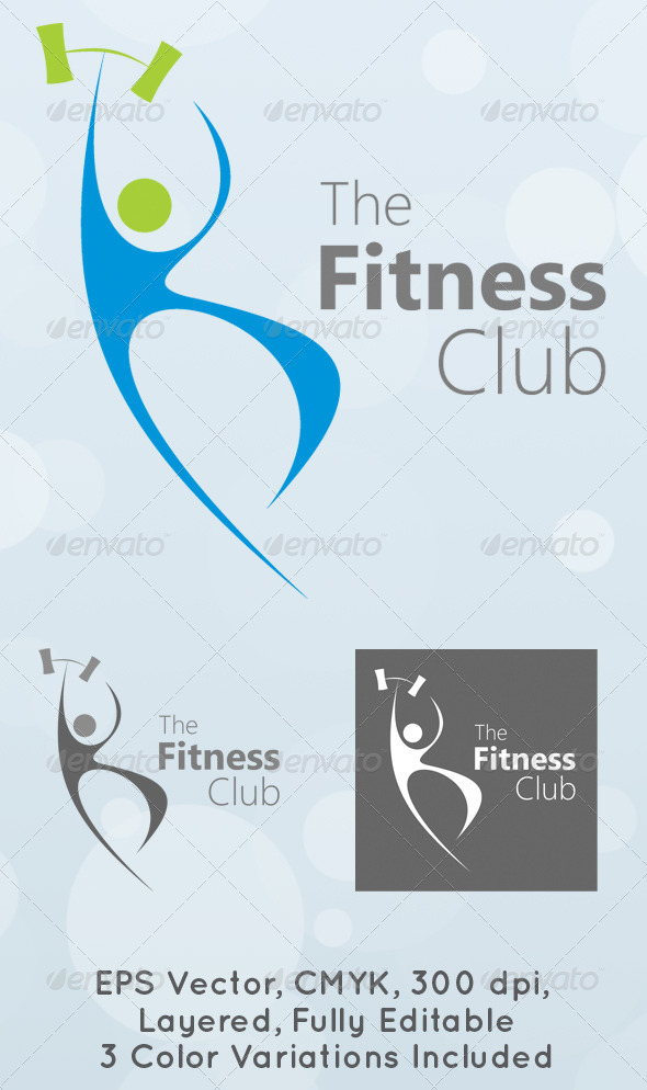 The Fitness Club Logo Template - Humans Logo Templates