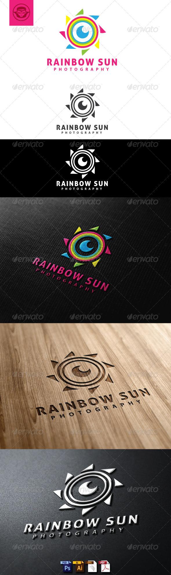 Rainbow Sun Logo Template - Symbols Logo Templates