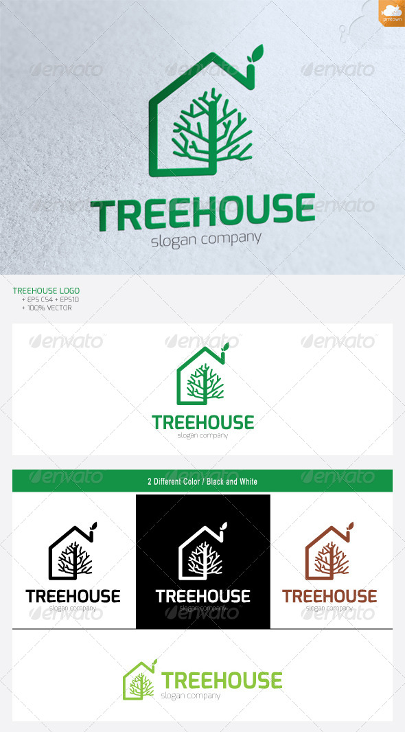 Treehouse - Buildings Logo Templates