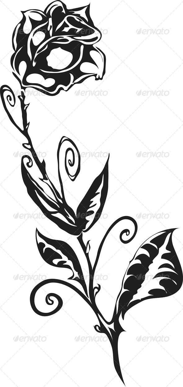 Rose - Tattoos Vectors