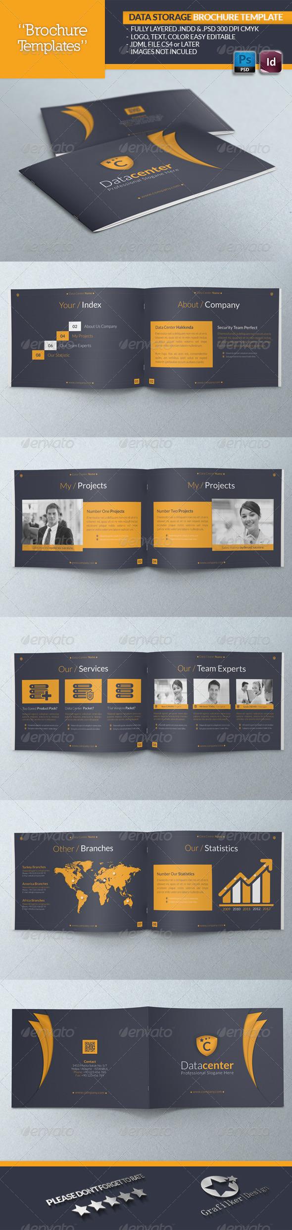 Data Storage Brochure Template - Brochures Print Templates