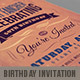Retro Birthday Invitation 2 - GraphicRiver Item for Sale