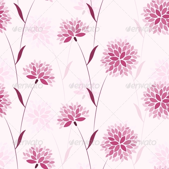 Seamless Vector Flower Elegance Pattern - Patterns Decorative