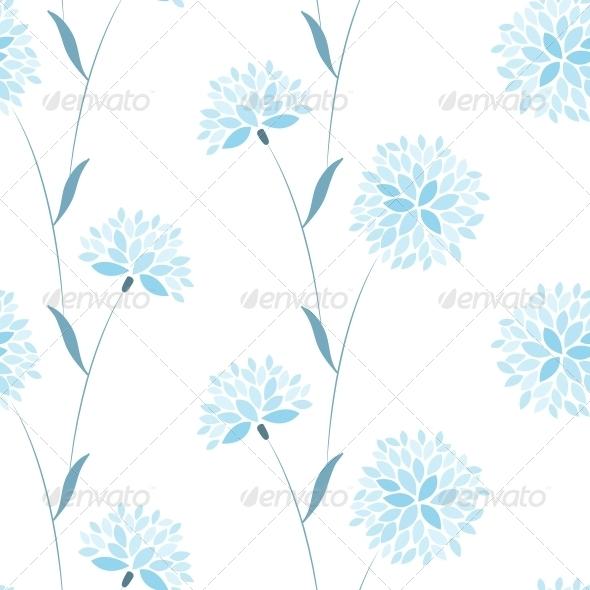 Seamless Vector Flower Elegance Pattern - Patterns Decorative