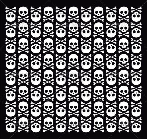 Vector Skull Pattern - Backgrounds Decorative