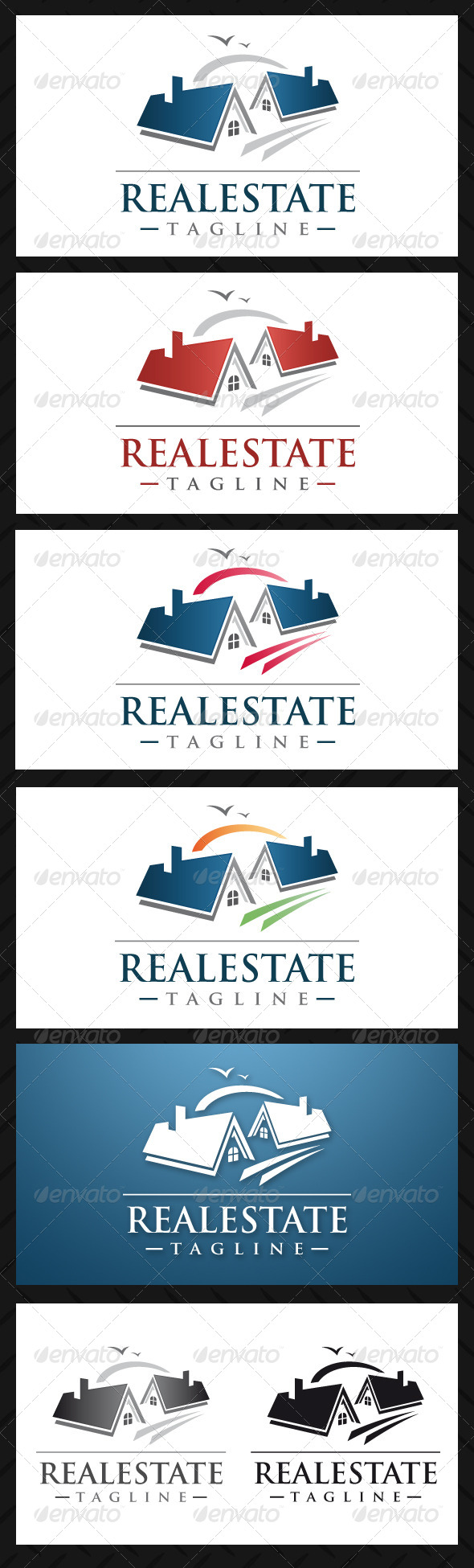 Real Estate Professional Logo Template - Buildings Logo Templates