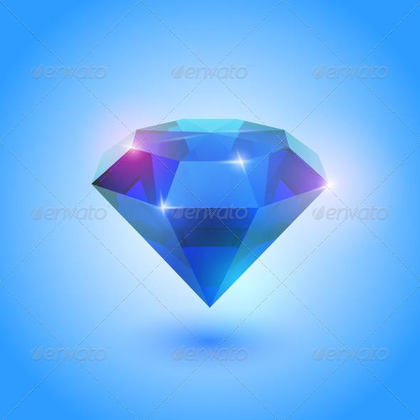 Sapphire Gem - Vectors