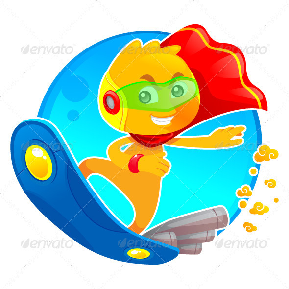 Alien Surfer - Characters Vectors