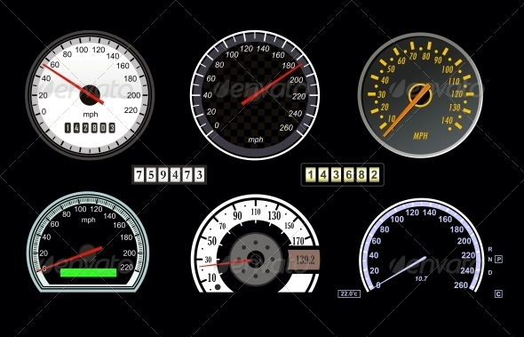 Speedometer - Sports/Activity Conceptual