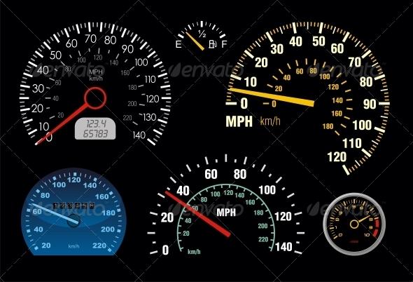 Speedometer 2 - Sports/Activity Conceptual
