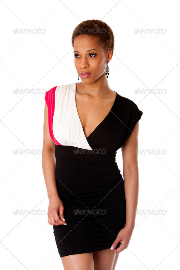 Beautiful African business woman - Stock Photo - Images