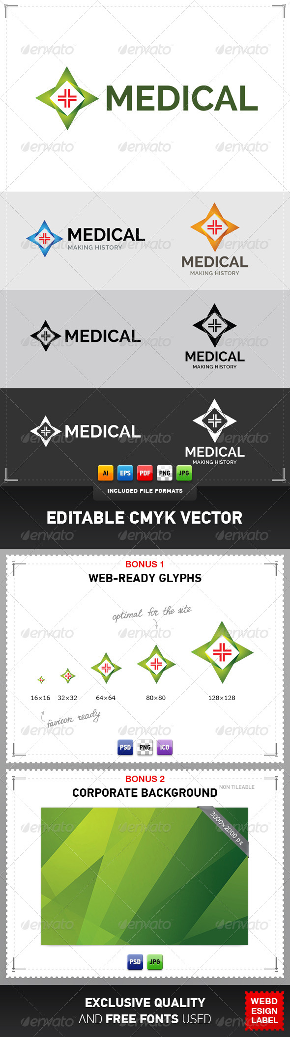 Medical Logo - Symbols Logo Templates