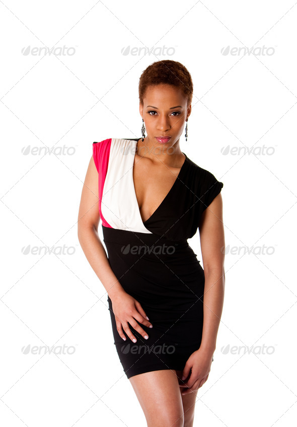 Beautiful African fashion business woman - Stock Photo - Images