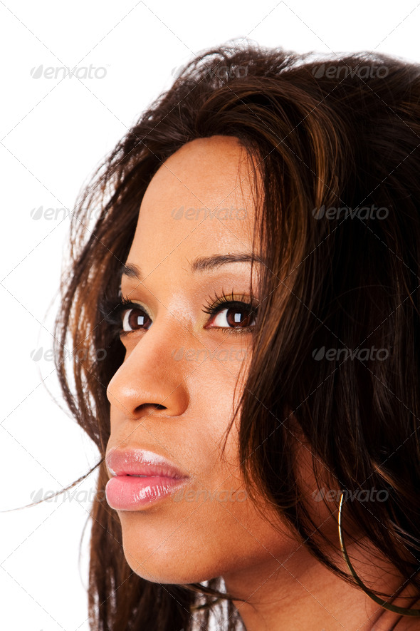 Face of African woman - Stock Photo - Images