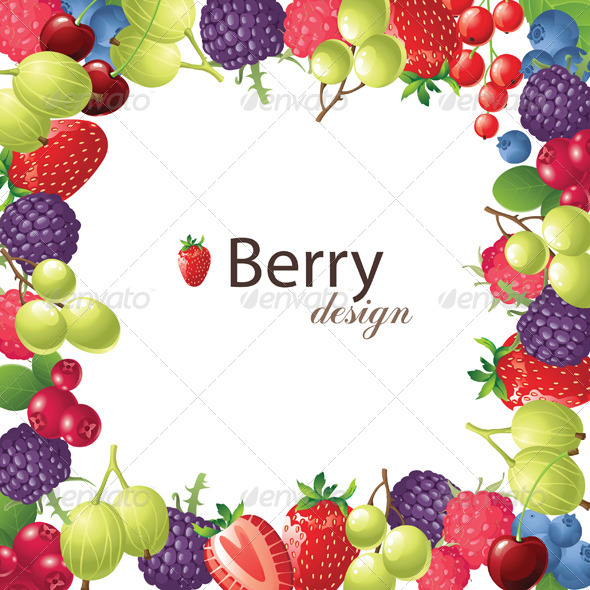 Berry Frame - Food Objects