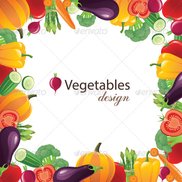 Vegetable Frame - Food Objects