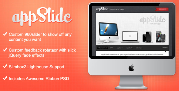 Free Download AppSlide - Professional App Site Template Nulled Latest Version