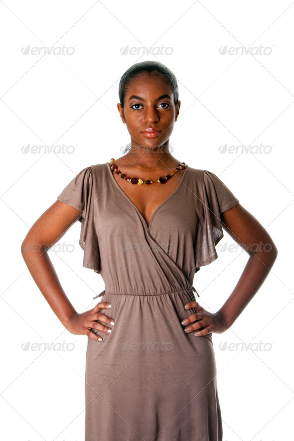Assertive African business woman - Stock Photo - Images