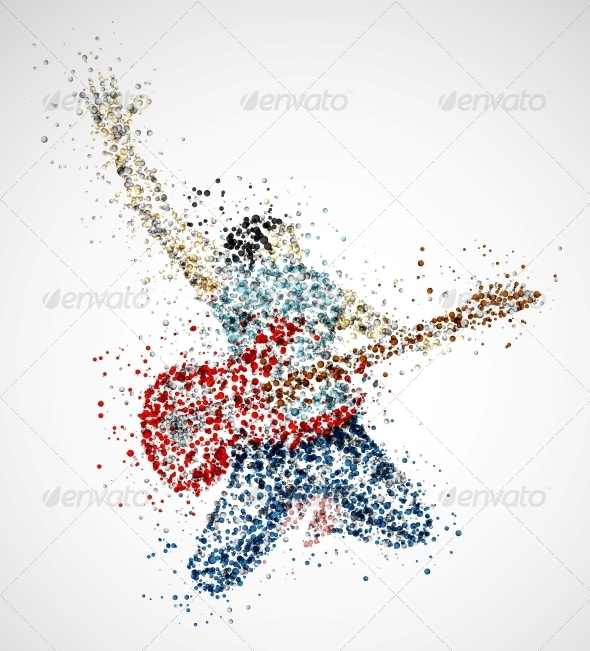 Abstract Guitarist - People Characters