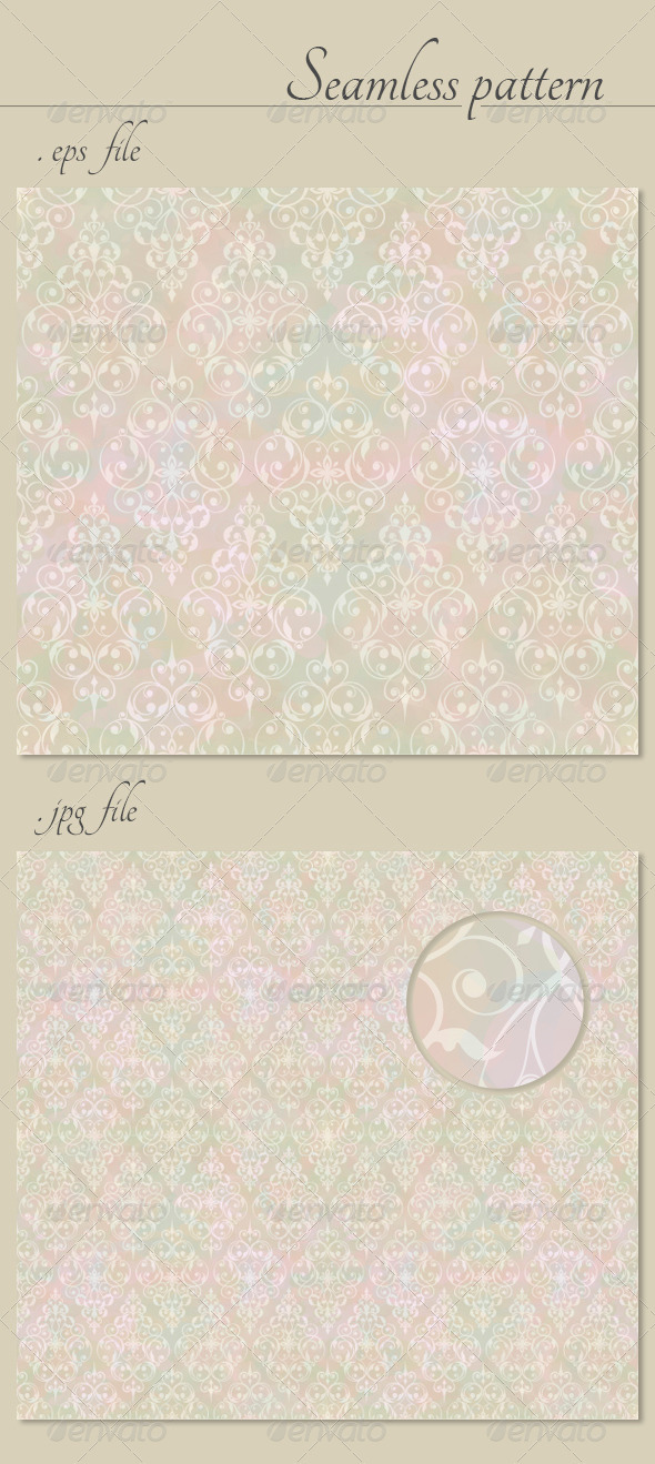 Vintage Abstract Vector Seamless Pattern  - Patterns Decorative