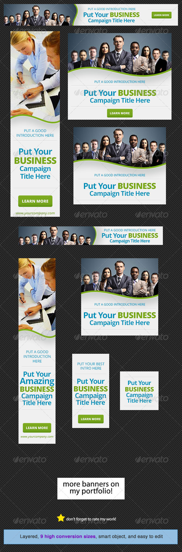 Corporate Web Banner Design Template 15 - Banners & Ads Web Elements