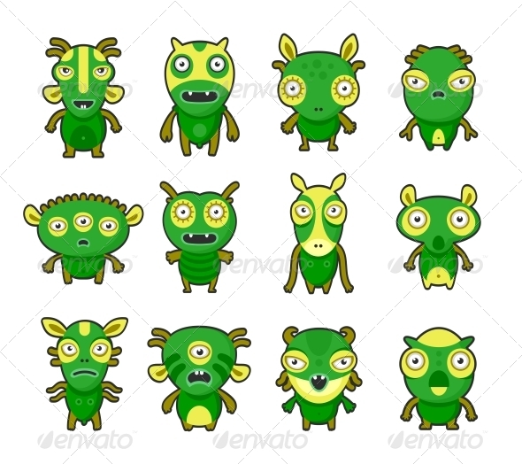 Aliens  Pets - Monsters Characters