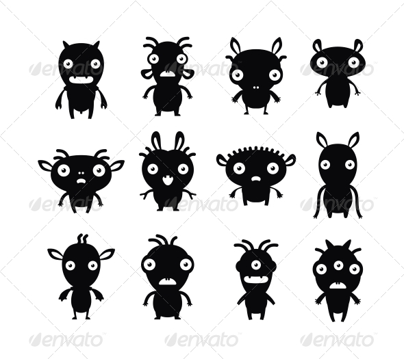 Pets Silhouette  - Monsters Characters